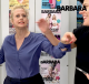 Barbara Schöneberger und Diana Huth rangeln
