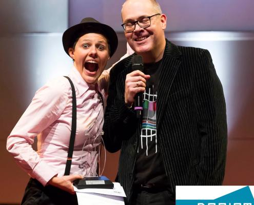 Preisverleihung lfm Bürgermedienpreis für Dreist.TV Moderation